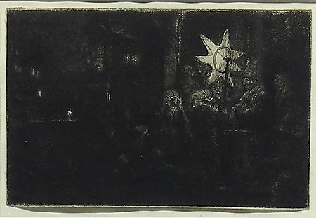 The Star of Kings: A Night Piece, Rembrandt van Rijn, c. 1651, Museum Purchase with funds provided by  the Edward J. Gallagher, Jr. Memorial Fund