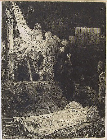 The Descent from the Cross by Torchlight, Rembrandt van Rijn, 1654, Museum Purchase with funds provided by  the Edward J. Gallagher, Jr. Memorial Fund