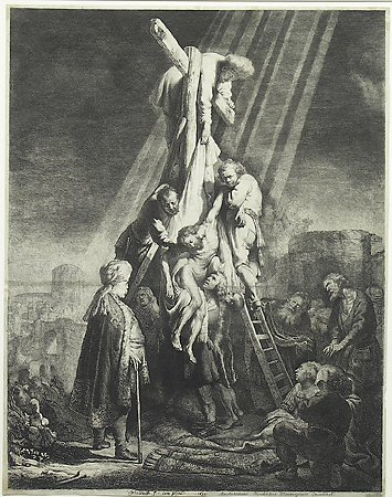 The Descent from the Cross, Rembrandt van Rijn, 1633, Museum Purchase with funds provided by  the Edward J. Gallagher, Jr. Memorial Fund