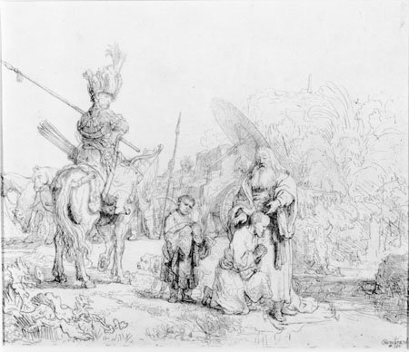 The Baptism of the Eunuch, Rembrandt van Rijn, 1641, Gift of Mrs. Elizabeth Crozer Campbell