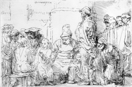 Christ Seated Disputing with the Doctors, Rembrandt van Rijn, 1654, Gift of C. Leonard Pfeiffer