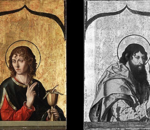 Fernando Gallego, St. Bartholomew and St. John the Evangelist, 1480-1488. Gift of the Samuel H. Kress Foundation.