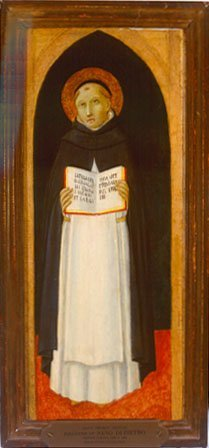 Saint Thomas Aquinas, by a follower of  Sano di Pietro, c. 1480