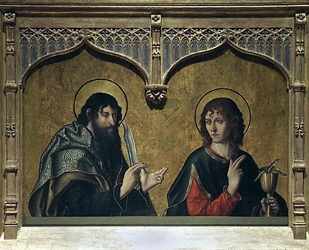 St. Bartholomew and St. John the Evangelist, Fernando Gallego, 1480-1488