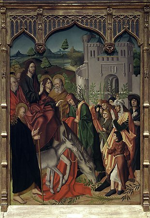 The Entry into Jerusalem, Maestro Bartolomé, 1480-1488
