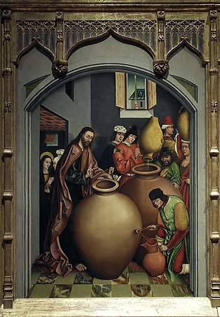 Changing the Water into Wine, Workshop of Fernando Gallego, 1480-1488
