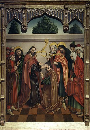 The Healing of the Blind Bartimaeus, Workshop of Fernando Gallego, 1480-1488