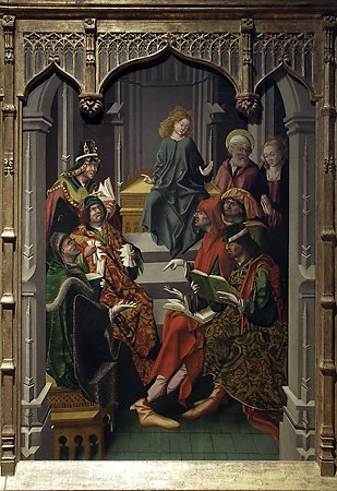 Christ Among the Doctors, Maestro Bartolomé, 1480-1488