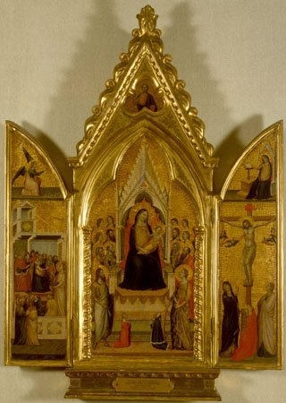 Madonna and Child Enthroned, Jacopo del Casentino, c. 1340
