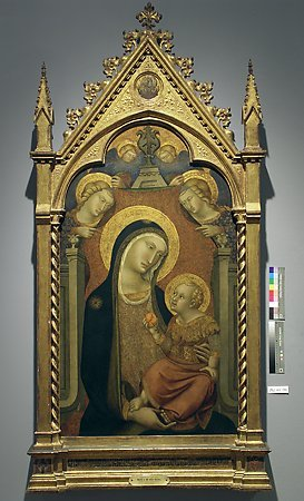 Madonna and Child with Angels, Niccoló di Ser Sozzo Tegliacci, c. 1360