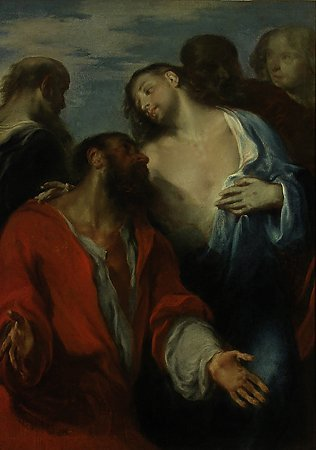 The Incredulity of St. Thomas, Giuseppe Bazzani, c. 1730