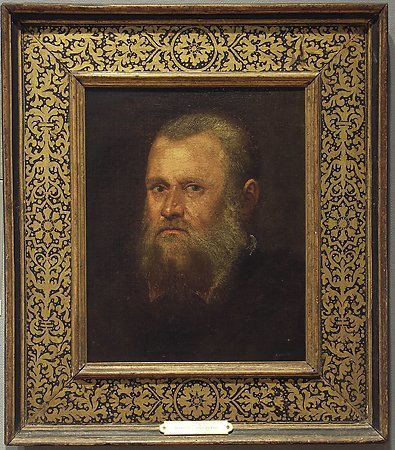 Head of a Bearded Man, attributed to Marietta Tintoretto, c. 1580