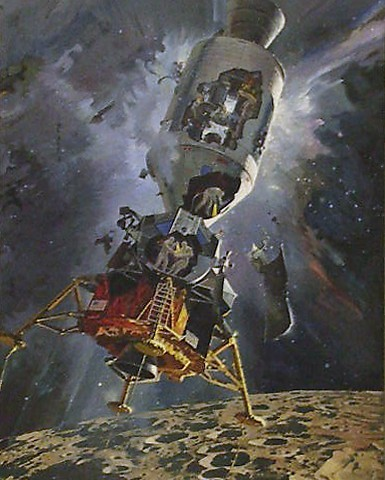 Robert McCall, Apollo XIII, 1970, oil on canvas, gift of Robert T. and Louise H. McCall