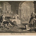 "Hogarth, William, Marriage a-la-Mode, plate II, 1745 Engraving, 14 4/25"" x 17 4/5"""