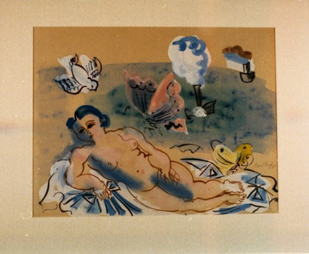 Raul Dufy, Naïade Amphitrite (Water-Nymph Amphritite, Goddess of the Sea), c. 1937, watercolor