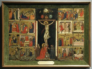"Pacino di Bonaguida. ""Tabernacle with Scenes from the Life of Christ,"" ca.1325. Loaned to The J. Paul Getty Museum (08/15/2009 - 02/15/2013)"