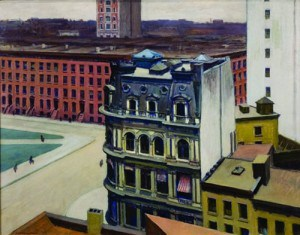 "Hopper, Edward. ""The City,"" 1927. Loaned to Museo Thyssen-Bornemisza (05/01/2012 - 02/28/2013)"