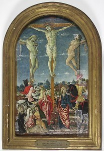 "Cozzarelli, Guidoccio. ""The Crucifixion,"" 1483-1484. Loaned to the Allentown Art Museum (10/01/2011 - 02/15/2012)"