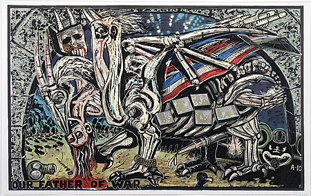 "Eric Avery, ""Chimera,"" 1991, Silksceen and linocut on paper, Museum purchase with funds provided by the Edward J. Gallagher, Jr. Memorial Fund"