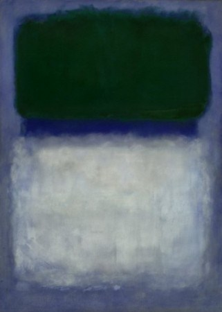 "Mark Rothko, ""Green on Blue (Earth-Green and White), 1956, Oil on Canvas, Gift of Edward Joseph Gallagher, Jr."