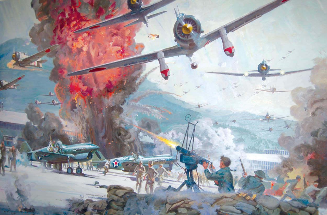 "Robert McCall, ""Tora Tora Tora,"" Oil on canvas, Gift of Robert T. and Louise J. McCall"