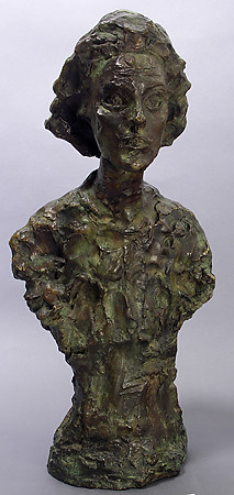 "Alberto Giacometti, ""Annette VIII,"" 1962, Bronze, Gift of Edward Joseph Gallagher, Jr. in Memory of Edward Joseph Gallagher, Ann Hay Gallagher, and Edward Joseph Gallagher Iii"