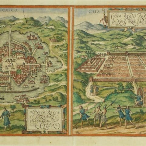 Francis Hogenberg, City Plans of Mexico, ca. 1572, Engraving, Gift of Mr. and Mrs. Pal Keleman