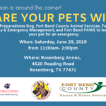 Pet Preparedness Event at the Rosenberg Annex Saturday, June 29, 2019