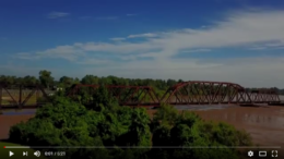 Drone footage of the Brazos River at Richmond