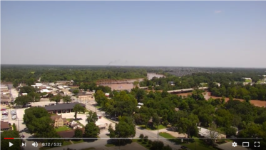 Drone footage of the Fort Bend County Office of Emergency Management