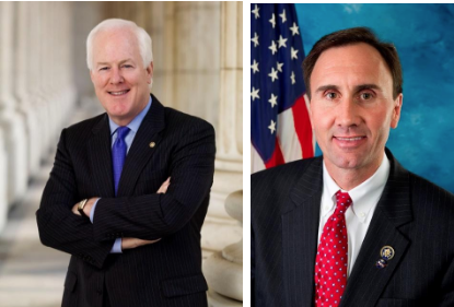Senator John Cornyn and Congressman Pete Olson