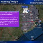Freeze Warning in Effect Again From Midnight Until 8 a.m. Wednesday, March 6