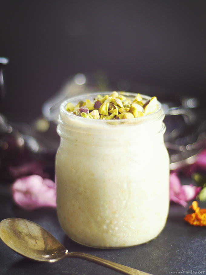 Raw Cherimoya & Pistachio Custard Pudding {Fruit-Sweetened & Free From: gluten & grains, starches, dairy, eggs, and refined sugars}