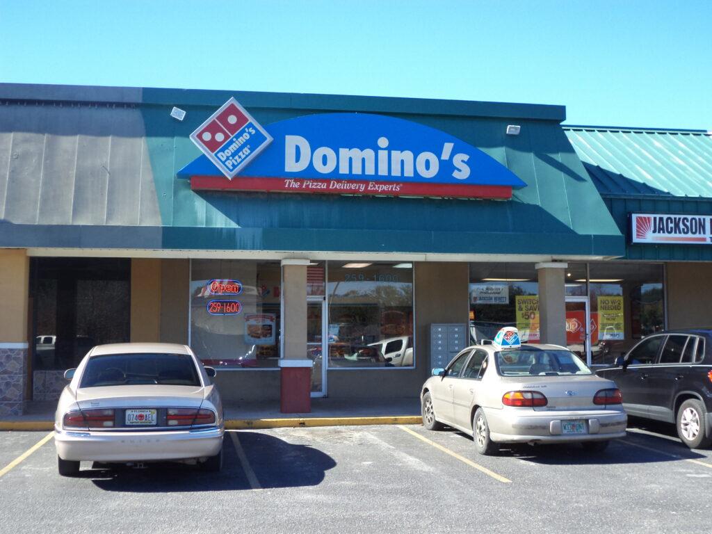 dominoes pizza gun policy shooting