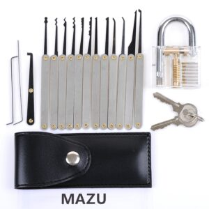 Mazu lock picking tools and training lock