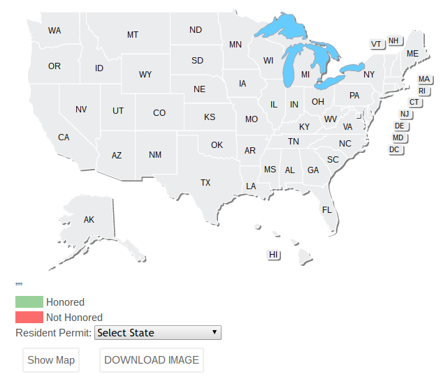 How To Download Your States Concealed Carry Reciprocity Map - Us carry map