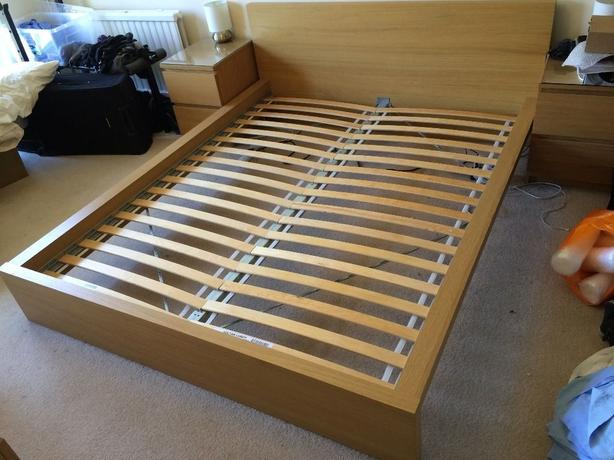 Ikea Full Bed Frame Solid Wood with Headboard  amazoncom