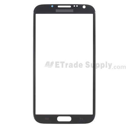 For Samsung Galaxy Note 2 SGH-i317 Glass Lens  Replacement - Gray - Grade S+