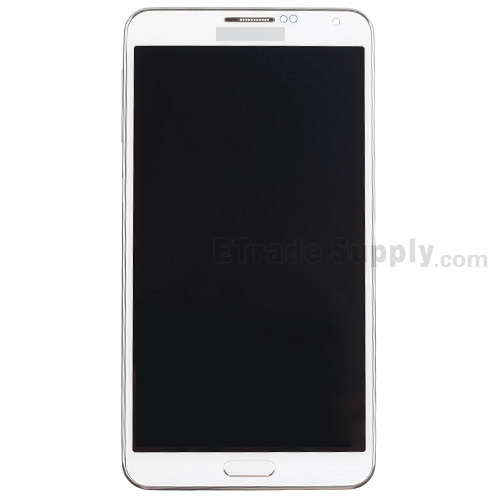 For Samsung Galaxy Note 3 SM-N900A LCD Screen and Digitizer Assembly with Front Housing Replacement - White - Grade S+