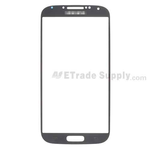 For Samsung Galaxy S4 GT-I9500/I9505/I545/L720/R970/I337/M919/I9502 Glass Lens Replacement - Black - Grade S+