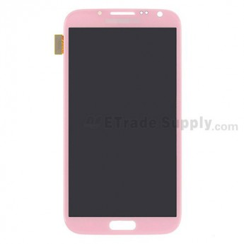 For Samsung Galaxy Note 2 SCH-I605 LCD Screen and Digitizer Assembly  Replacement  - Pink - Grade S+