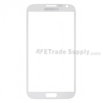 For Samsung Galaxy Note II N7100/SGH-i317/T889/R950/I605/L900 Glass Lens Replacement - White - Grade S+