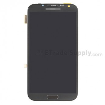 For Samsung Galaxy Note 2 SCH-I605/SPH-L900 LCD Screen and Digitizer Assembly with Front Housing Replacement - Gray - Grade S+