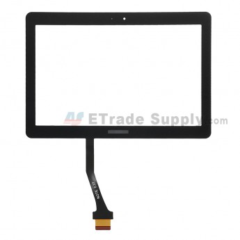 For Samsung Galaxy Tab 2 10.1 GT-P5100/GT-P5110/GT-P5113 Digitizer Touch Screen Replacement - Black - With Logo - Grade S+