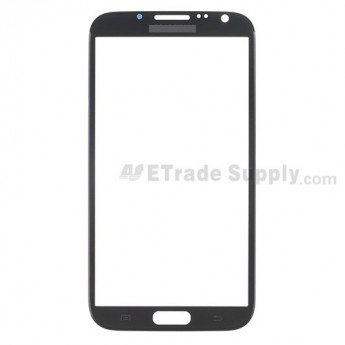 For Samsung Galaxy Note II N7100/SGH-i317/T889/R950/I605/L900 Glass Lens Replacement - Gray - Grade S+