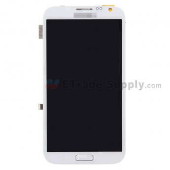 For Samsung Galaxy Note 2 N7100 LCD Screen and Digitizer Assembly with Front Housing  Replacement  - White - Grade S+