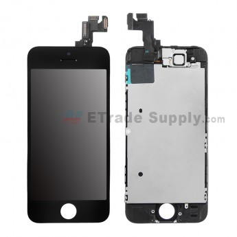For Apple iPhone 5S LCD and Digitizer Assembly with Frame and Small Parts Replacement (without Home Button) - Black - Grade S (2)