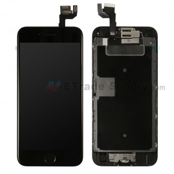 For Apple iPhone 6S LCD Screen and Digitizer Assembly with Frame and Home Button Replacement - Black - Grade S+ (0)