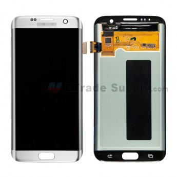 For Samsung Galaxy S7 Edge G935/G935F/G935A/G935V/G935P/G935T/G935R4/G935W8 LCD Screen and Digitizer Assembly Replacement - Silver - Samsung Logo - Gr (5)
