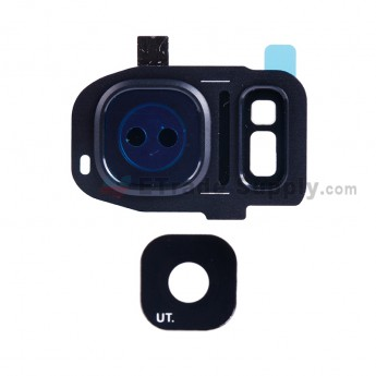 For Samsung Galaxy S7 G930/G930F/G930A/G930V/G930P/G930T/G930R4/G930W8 Rear Facing Camera Lens and Bezel Replacement - Black - Grade S+ (1)